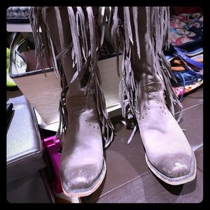 Boutique cow leather boot